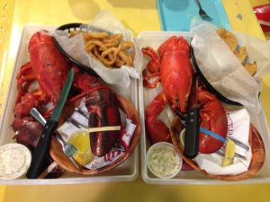 Prato do Jazzy's Mainely Lobster & Seafood Company em Cocoa Beach