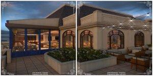 Terraço - Restaurante Topolino's Terrace Flavors of Riviera na Disney Orlando