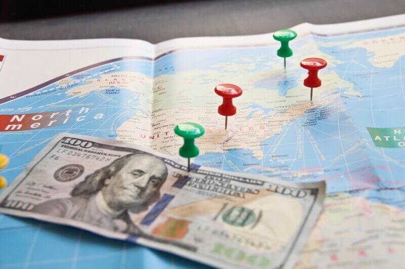 Remessas internacionais para a Flórida (EUA)