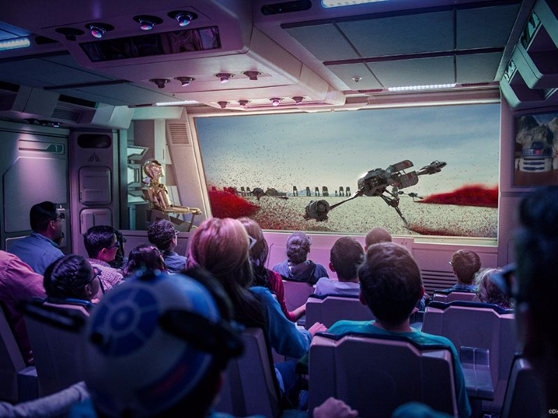 Star Tours no Hollywood Studios da Disney Orlando