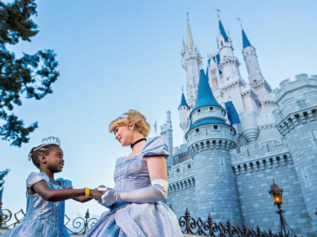 Cinderela no Early Morning Magic da Disney Orlando