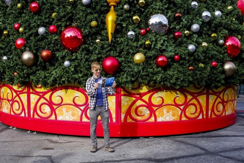 Árvore da caça ao tesouro de Natal na Universal Orlando