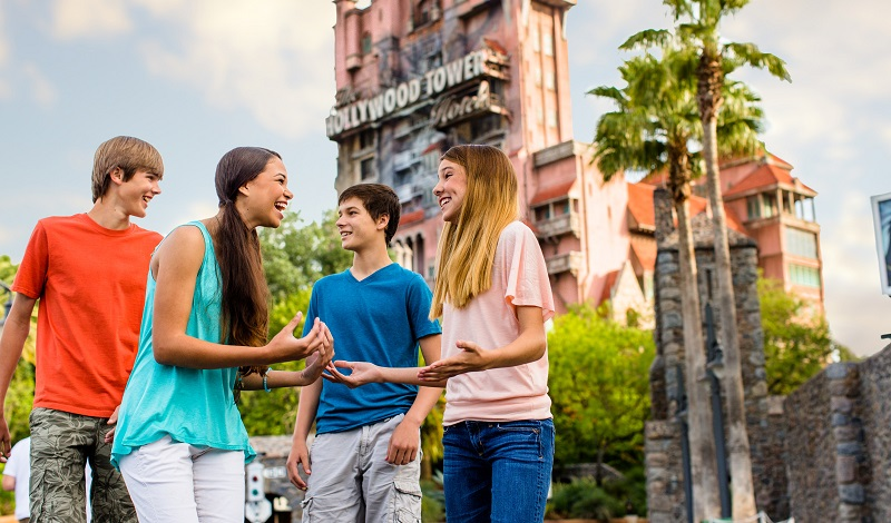 Excursão de adolescentes no Hollywood Studios na Disney Orlando