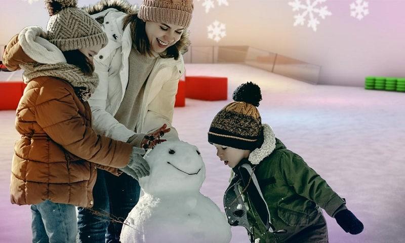 Arctic Iglo do parque Snowcat
