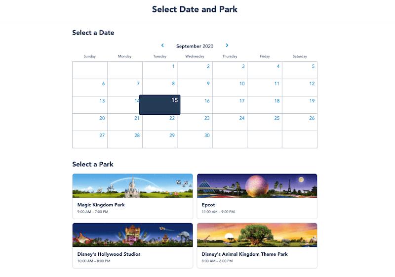 Passo 3 de como fazer a reserva para visitar os parques da Disney Orlando