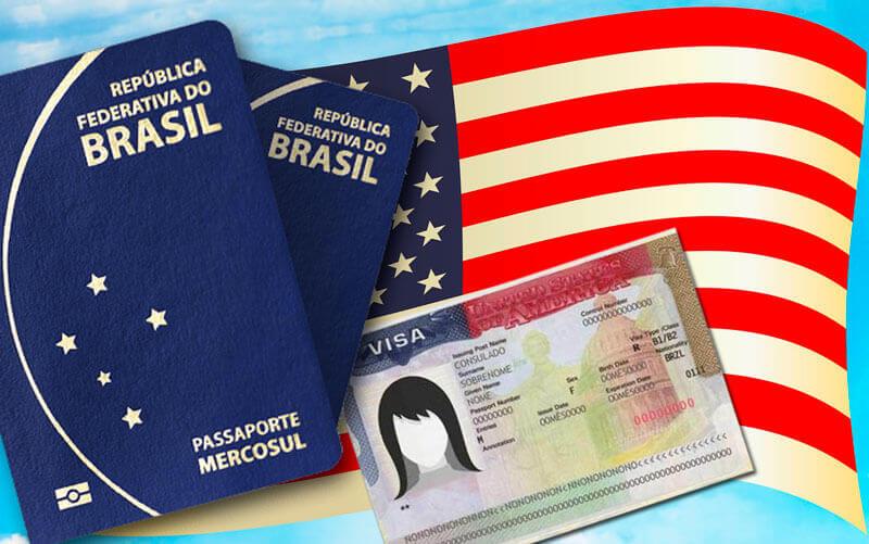 Passaportes e visto para os EUA