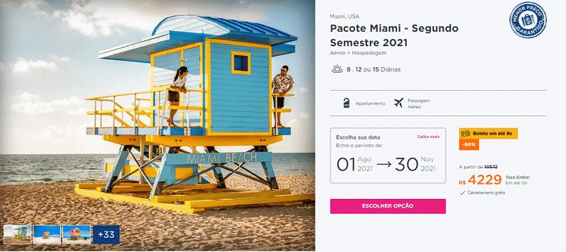 Pacote Hurb para Miami por R$ 4.229