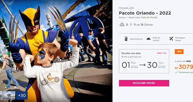 Pacote Hurb para Orlando por R$ 3.079 para 2022