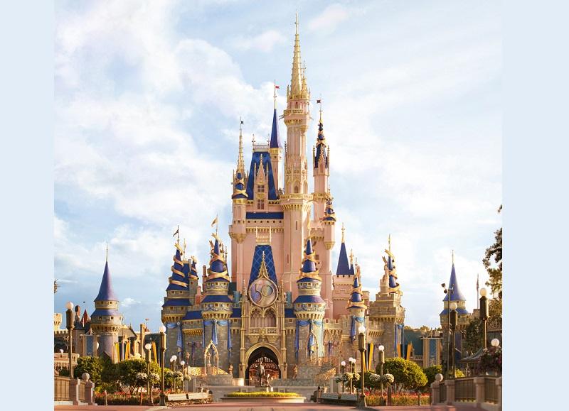 Decoração do Magic Kingdom dos 50 anos da Disney