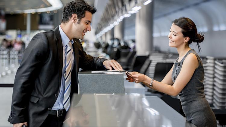 Interação com funcinoário de companhia aérea