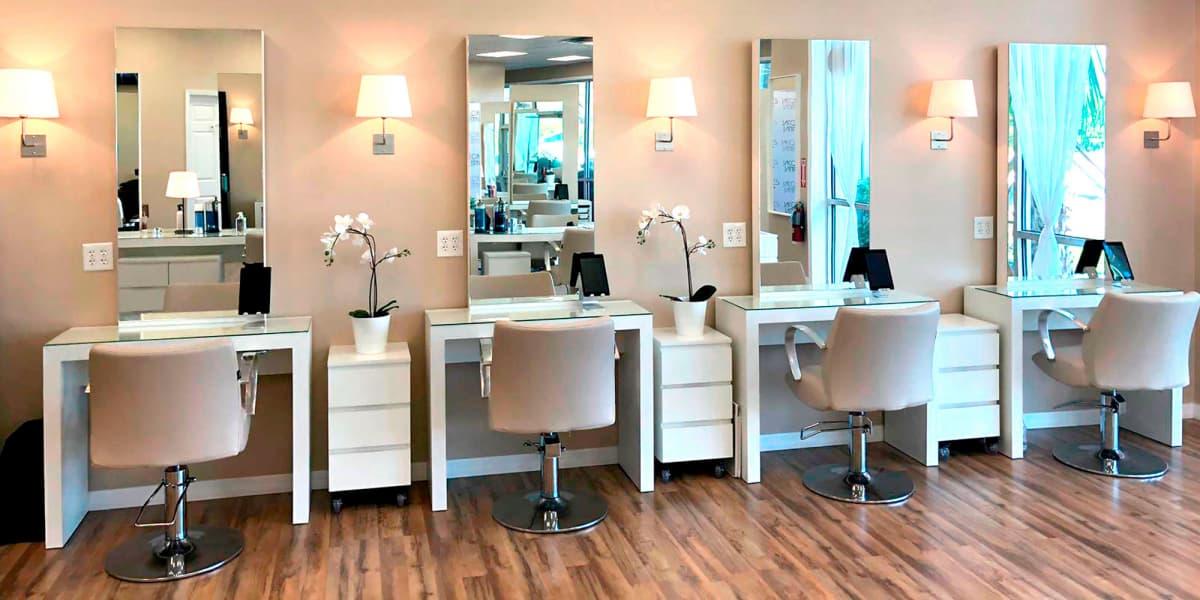 Interior do Salão de cabeleireiro Jacques Janine em Orlando