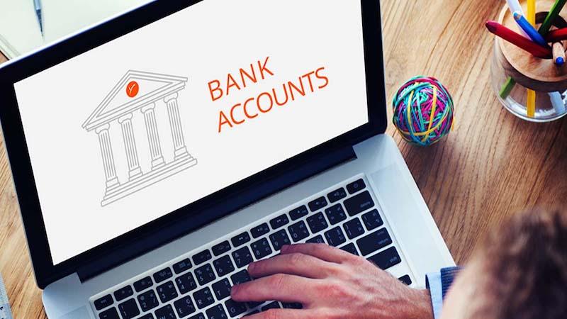 Conta online de banco