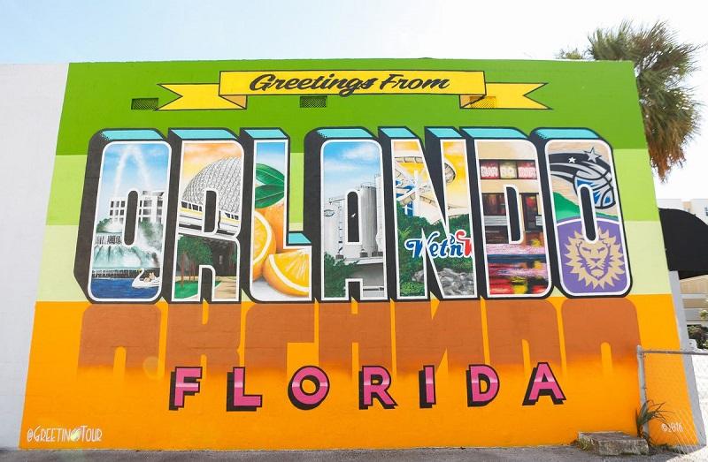 Orlando Postcard Wall