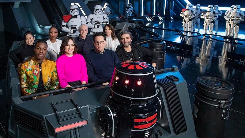 Atores de Star Wars na atração Rise of the Resistance na Disney Orlando