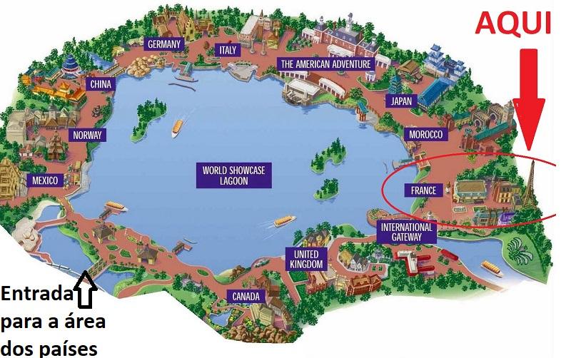 Mapa do Epcot em Orlando